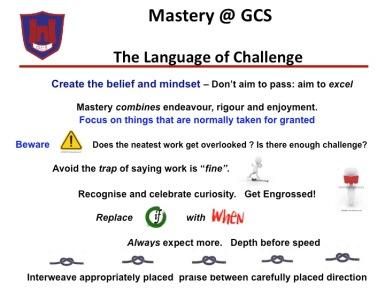 Challenge pop up slide Learning team